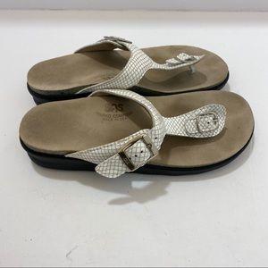 SAS Tripad Company Faux Snake Skin Sandals